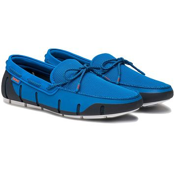 Men's Stride Lace Loafer in Blitz Blue, Navy & White Fleck by SWIMS
