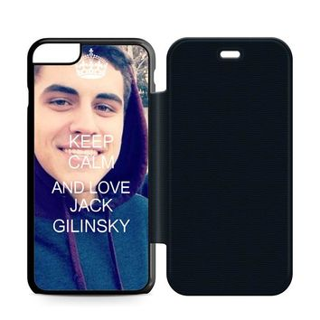 Keep Calm and Love Jack Gilinsky Leather Wallet Flip Case iPhone 6 Plus | 6S Plus