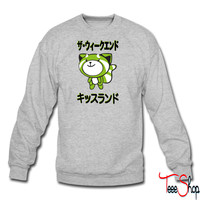 kiss land f crewneck sweatshirt