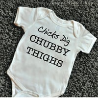 Hipster Baby Clothes Chicks Dig Chubby Thighs Baby Boy Clothes Boy Hipster Baby Clothes New Baby Gift Funny Baby Boy Clothes 076