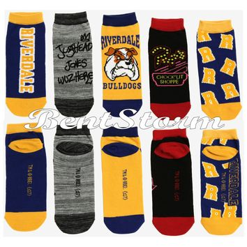 Licensed cool Riverdale High Bulldog Ladies No Show Ankle Socks Jughead Chock' Lit Shop 5 PR