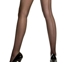 Sheer Backseam Pantyhose (Black) - Adult