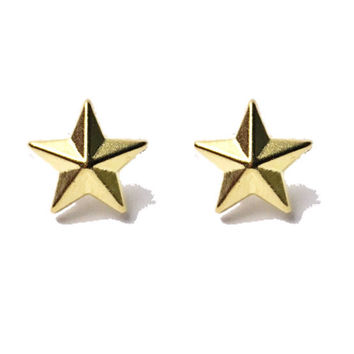 Dainty Doll Collection Studded Geometric Star Earrings