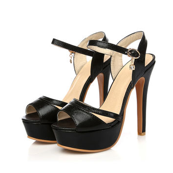 High Heel Platform Sandals up to Size 13.5 (28cm EU 46)