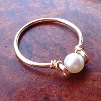 Freshwater Pearl Stacking Ring