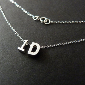 1D Necklace,One Direction Fan Gift, Directioner, Sterling Silver Jewelry
