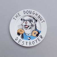 The Doughnut Destroyer side plate