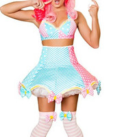 Deluxe Lady Laughter Clown Costume