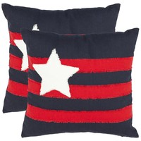 Lone Star 18-inch Navy Decorative Pillows (Set of 2) | Overstock.com
