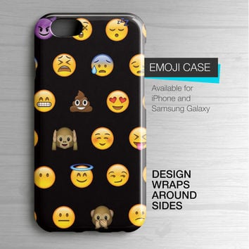 Emoji iPhone 6 Case - Emoji Sublimated Samsung Galaxy Case - Emoji Smartphone Case - Emoji iPhone 5 Case - Emoji iPhone 6 Case