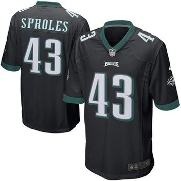 Mens Philadelphia Eagles Darren Sproles Nike Black Alternate Game Jersey