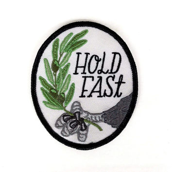 Hold Fast Eagle Iron-On Patch