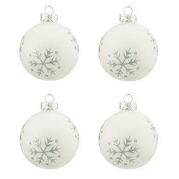 Snowflake Design Glass Ball Christmas Ornament