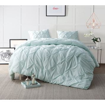 BYB Hint of Mint Pin Tuck Comforter Set | Overstock.com Shopping - The Best Deals on Comforter Sets