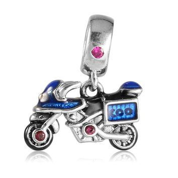 925 Sterling Silver Motorcycle/Car Shape Charms fit Necklace Pendant Bead Bracelet DIY Jewelry Accessories