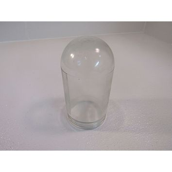 Unbranded/Generic Vintage Light Fixture Lense Cover Jelly Jar Clear Glass -- Used