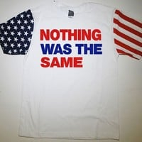Nothing Was The Same American Flag Sleeve T-Shirt Drake NWTS Ovo Owl