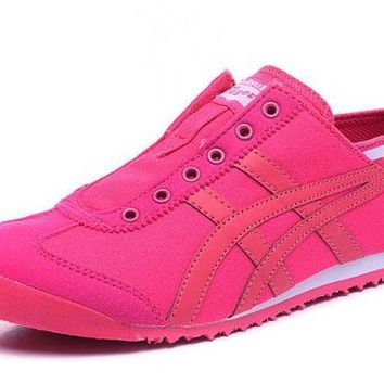 DCCKY4E asics Japan Onitsuka Tiger. Pink Women's Running Shoes Sneakers Trainers