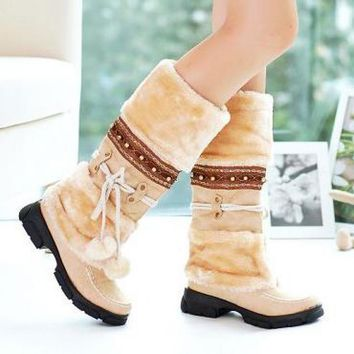 shoelac Botas Mujer Winter Boots Women Chaussures Femme Winter Shoes Women Boots Snow  Laarzen Dames Botte Hiver Femme Off White