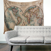 """The Split World"" Map Wall Tapestry"
