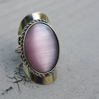 Pink Alpaca gem ring