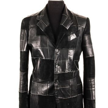 Alexander McQueen Patchwork Leather Jacket
