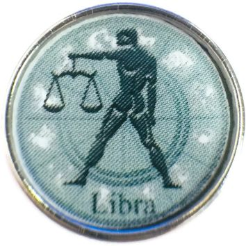 Libra Man Holding Scales Zodiac Sign Horoscope Symbol 18MM - 20MM Charm for Snap Jewelry New Item