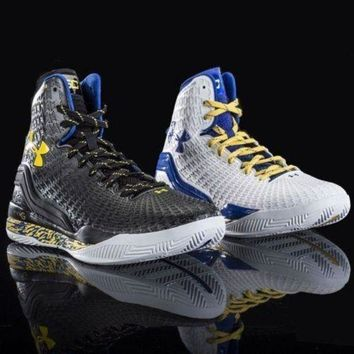 ONETOW Under Armour Clutchfit Drive Curry PE Home Away Yellow dub nation batman black
