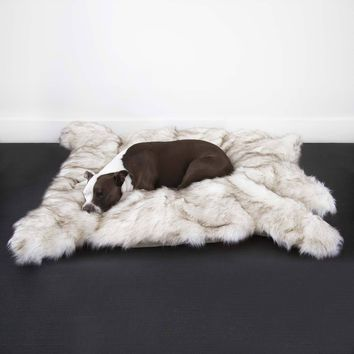 Luxury Faux Fur Shag Bear Bed