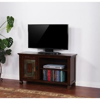 Sunny Designs Dark Hazelnut TV Console with Slate In Dark Hazelnut
