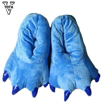 Plush warm Monster Paw Slippers