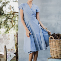 Shabby Apple Baz Wrap Dress