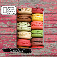 Macaron Cookie French Macaroon Rainbow Color Custom iPad Mini, iPad 2/3/4 and iPad Air Case Cover