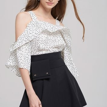 Zenny Free Dot Blouse Discover the latest fashion trends online at storets.com