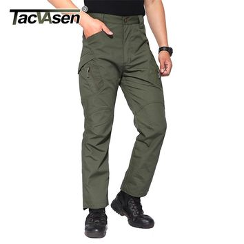 TACVASEN IX9 Men Tactical Pants Breathable Mens Cargo Pants Checker Slim Casual Pant Army Military Combat Trousers TD-YCXL-033