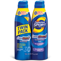 Walmart: Coppertone Sport High Performance Ultra Sweatproof Clear Continuous Sunscreen Spray SPF 30, 6 oz, 2 count