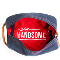 Hey Handsome Shaving Kit Bag - Navy