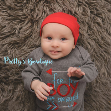Baby boy coming home outfit - Newborn boy coming home outfit For this Little boywe have prayed gown and hat