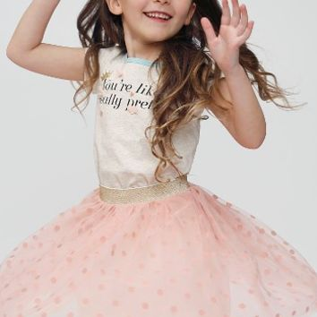 Truly Me Polka Dot Tutu Skirt (Toddler Girls & Little Girls) | Nordstrom