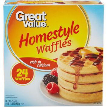 Great Value Homestyle Waffles, 24ct - Walmart.com