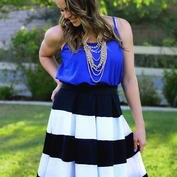 Stand & Deliver Striped Skirt