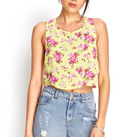 Floral Tulip Back Top