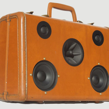 "SOLD Vintage 1950's Samsonite Portable MP3 Player Suitcase Boombox ""SLICK RICK"" by Hi-Fi Luggage"