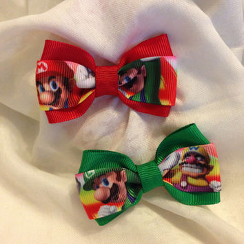 Mario Party Hair Bow