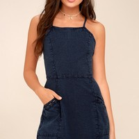 O'Neill Esme Denim Blue Mini Dress