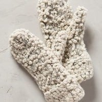 Popcorn Mittens by Anthropologie Cream One Size Scarves