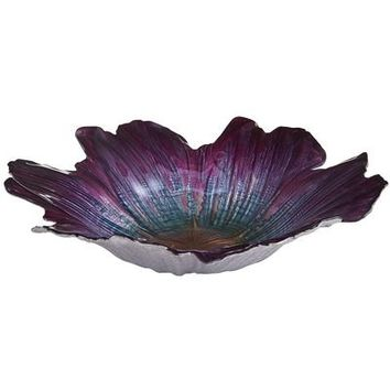 Luster Flower Serving Bowl - Violet