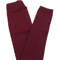 Fleece Lined Leggings: Cranberry