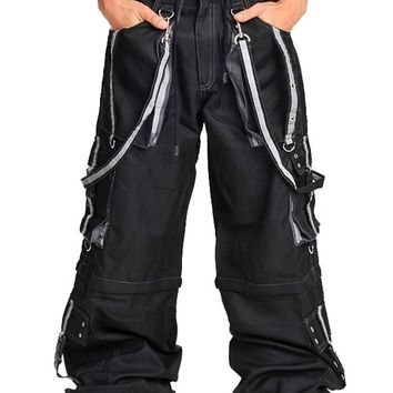 Amok Reflective Silver Lightweight Pants : Wide Leg Rave Pants