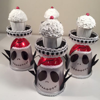 Nightmare before Christmas cupcake stands!